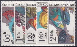 ** Tchécoslovaquie 1975 Mi 2260-4 (Yv 2105-9), (MNH)