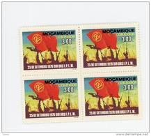Mozambique 1976-Journée Du F.P.L.M.Drapeaux-YT 613***MNH-En Bloc De 4 - Mozambique