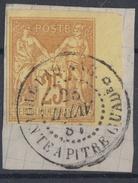 #119# COLONIES GENERALES N° 44 Bdf Oblitéré Pointe-à-Pitre PAQ ANG (Guadeloupe)  SUPERBE - Sage