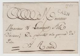 FP183  FRANKREICH - / Caen 1784, Klarer Stempel Auf Briefhülle - 1701-1800: Vorläufer XVIII