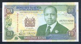 506-Kenya Billet De 10 Shillings 1993 AX701 - Kenya
