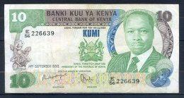 493-Kenya Billet De 10 Shillings 1986 E56 - Kenia