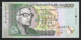 518-Maurice Billet De 200 Rupees 2004 AX780 Neuf - Maurice