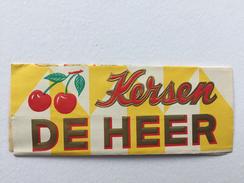 """CHOCOLAT DE HEER """"KERSEN  Cerise """" De Heer's Chocolat Fabriqué Holland Rotterdam ,emballage . - Publicités"""