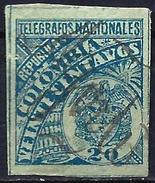 Colombia 1896 - Telegraph Stamp ( Mi Xxx - YT TL 23 ) - Colombie