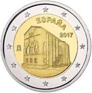 "Spanje  2017    2 Euro Commemo  Monument Van Oviedo ""Santa Maria Del Naranco""      UNC Uit De Rol  UNC Du Rouleaux !! - Espagne"