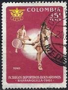 """Colombia 1961 - Youth Sports Games """"Bolivaranios"""" : Tennis ( Mi 1000 - YT Pa 404 ) Airmail - Colombia"""