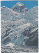 Mount Everest 29,028 Ft. Flanked By Mount Nhuptse And Mount Lhotse - Nepal - Nepal
