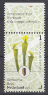 Nederland - 24 April 2017 - Botanische Tuinen - Kerkrade - Gele Trompetbekerplant - MNH - Tab Boven - Periode 2013-... (Willem-Alexander)
