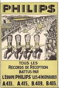 PHILIPS RADIO BELGE SPORT IN STADION STADE L 'EQUIPE Les 4 Inseparables A435 Etc. 6/060 D2 - Publicité