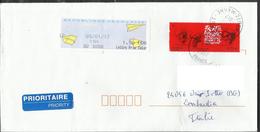 Lettera Dalla Francia A Osio Sotto (BG) Italia - Frankrijk