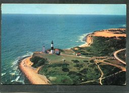 CPSM Format CPA - Historic Long Island Montauk Point Lighthouse - Long Island
