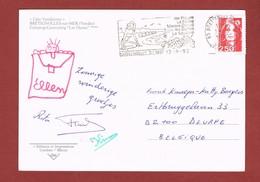 Brétignolles Sur MeP (!) Raisins Homard Plage, Oblitération Flamme Sur Carte Postale 1992 - Stamps