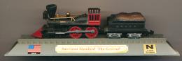 "Locomotive : American , Standart ""The General"", DelPrado, Echelle N 1/160, G = 9 Mm, USA, Etats-Unis - Locomotives"