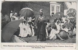 SIERRA LEONE - Native Musicians - 15 Décembre 1910 - Sierra Leone