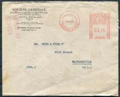 1942 Argentina Buenos Aires Franking Maching Censor Cover -  Gloversville, New York, USA / France Commerce Co - Argentine