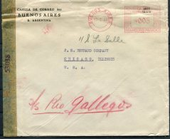 1944 Argentina Buenos Aires Franking Maching Censor Cover. First National Bank Of Boston - Chicago, USA - Argentine