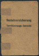 1952 Germany DDR Leipzig Socialversicherung Versicherungs-Ausweis - Historical Documents