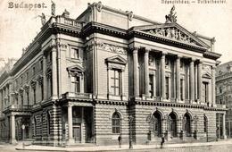 CPA Budapest Volkstheater - Tampon ENEA ISACU Etudiant - Hongrie