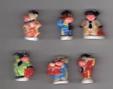 TRES RARE Série Complète 6 Gros Sujets LES VACHES ESPAGNOLES Corrida , Tauromachie  ESPAGNE - Countries
