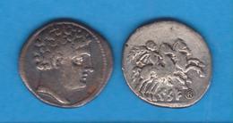 HISPANIA  Denario Ibérico  PLATA KESE (Tarragona) Siglo II A. C.   Réplica  DL-12.100 - Romanas