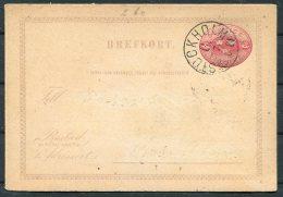 1881 Sweden 10 Ore Stationery Postcard Brefkort Stockholm - Sweden