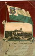 ALLEMAGNE 070517A - SONDERSHAUSEN - Schloss U Marktplatz - Drapeau 1902 - Sondershausen