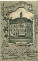 ALLEMAGNE 070517A - Gruss Aus HANAU Grimm Denkmal 1902 - Hanau