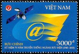 Vietnam - 2015 - 70th Anniversary Of Posts And Telecommunications - Mint Stamp - Vietnam