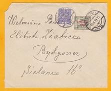 1934 - Enveloppe De Varsovie Vers Bydgosser, Pologne - T. PA Surchargé CHALLENGE 1934 à 20 Gr Et 5 Gr Aigle - 1919-1939 Republic