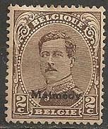 Timbres - Belgique - Albert 1er - Malmédy - 1920 - 2 C. - - Guerre 14-18