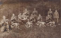 Foto Munsterlager Osnabrück Pickelhaube Gewehr  Feldgrau IR92 Braunschweig  Deutscher Soldat 1.Weltkrieg - Krieg, Militär