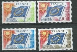 France Service Série Yvert N° 46 A 49 , 4 Valeurs  * *  - Bce 3205 - Neufs