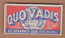 AC - QUO VADIS LUXUS SOLINGER SHAVING RAZOR BLADE IN WRAPPER - Lames De Rasoir