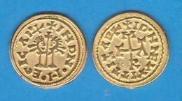 REINO VISIGODO (415-711) EGICA Y WITIZA (695-702) TREMIS (Triente) ORO Emerita (Mérida) Réplica   DL-12.104 - Otras Piezas Antiguas