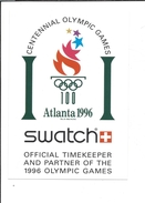 16732 -  Swatch Atlanta 1996 Official Timekeeper And Partner Of The 1996 Olympic Games - Publicité