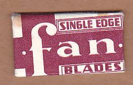 AC - FAN SINGLE EDGE BLADES RAZOR BLADE IN WRAPPER MADE IN USA - Rasierklingen