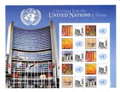 UN ONU Vienna Personalized Sheet  MNH Greetings From UN Vienna - Blocks & Sheetlets
