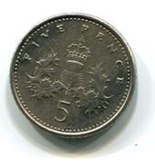 2001 Great Britain 5p Coin - 1971-… : Monnaies Décimales