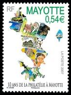 MAYOTTE 2007 - Yv. 194 **   Cote= 2,20 EUR - 10 Ans De Philatélie  ..Réf.AFA22681 - Mayotte (1892-2011)