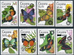 Guyana  Butterflies (opdruk Rotary)