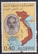 Algeria, 1973 - 40c Ho Chi Minh - Nr.490 Usato° - Algeria (1962-...)