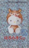 Télécarte Japon HOLO 3 D / 110-016 - ZODIAQUE - CHAT KITTY - SANGLIER - HOROSCOPE BOAR & CAT Animal Japan Phonecard 1030 - Zodiaco