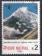 Nepal, 1981 - 2r Mt. Langtang Lirung - Nr.400 Usato° - Nepal