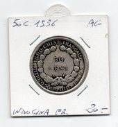 Francia - Colonie - Indocina Francese - 1936 - 50 Centesimi - Argento - (FDC4505)