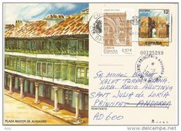 Plaza Mayor De Almagro, Provincia De Ciudad Real, Entier Postal Adressé ANDORRA, Avec Timbre à Date Arrivée - 1931-....