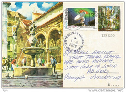 Fuente & Plaza Del Potro,Cordoba, Entier Postal Adressé ANDORRA, Avec Timbre à Date Arrivée - 1931-....