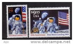 25 Ans Premier Homme Sur La Lune. 2 T-p Neufs ** (haute Faciale) 1994. Cote 28.50 € - United States