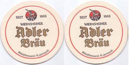#D139-095 Viltje Adler Bräu Wiernsheim - Sous-bocks