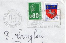 1977 - Lettre Pour Neuilly - Tp 0,80 Bequet (n°1891) + St Lo (1510c) - 1971-76 Maríanne De Béquet